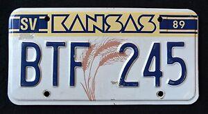 KANSAS-034-WHEAT-034-BFT-245-034-KS-1989-VINTAGE-CLASSIC-Graphic-License-Plate