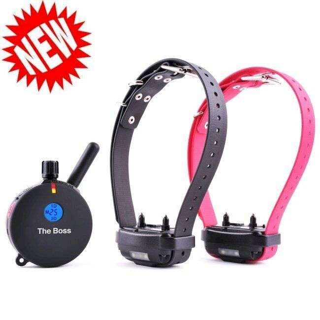 E-Collar The Boss 2 Dog 1 Mile Big Dog Trainer 20 lbs. and larger Model ET-802