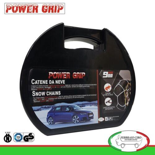 Catene da Neve Power Grip 9mm Gruppo 95 per pneumatici 205//60r16 Toyota Verso