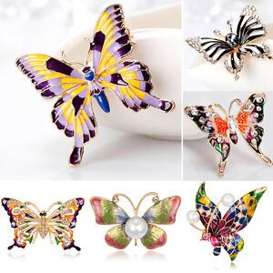 Elegant-Butterfly-Crystal-Rhinestone-Brooch-Pin-Women-Lady-DIY-Bouquet-Jewelry