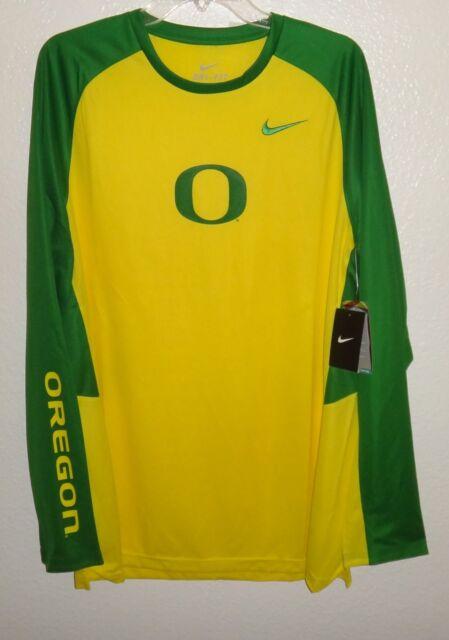 a0c92c793ee3 Nike Oregon Ducks Elite Shoot Around Long Sleeve Shirt Dri-fit Mens Size XL