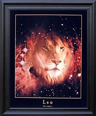 Astrology Leo Jul 24 19x23 Aug 23 Zodiac Black Framed Picture Art Print