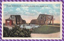 Carte Postale - Menphis and Harrihan Bridges, Spanning Mississippi River,
