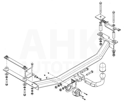 POUR HONDA JAZZ III GE//GG 5-tür attelage rigide es 13p ABE