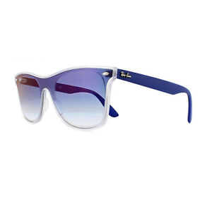 3ffc3c2ea9 Image is loading Ray-Ban-Sunglasses-Blaze-Wayfarer-4440N-6356X0-Transparent-