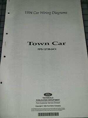 1994 Lincoln Town Car Electrical Diagrams Manual | eBay