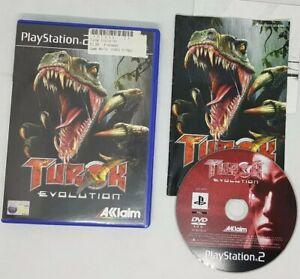 Turok Evolution PlayStation 2 PS2 juego dinosaurios en muy buena condición 15+ PAL UK