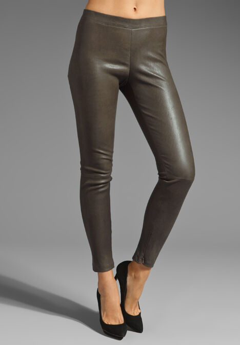 1150.00 NWT Vince  Lambskin Leather Ankle Zip Leggings Pants XXS US