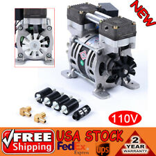 110v Oilless Vacuum Pump 86kpa Oil Free Air Compressor 02mpa Max 25lmin 3uf