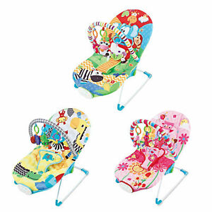 Baby-Rocker-Toddler-Comfortable-Bouncer-Safe-Chair-3-Position-Recliner-Seat
