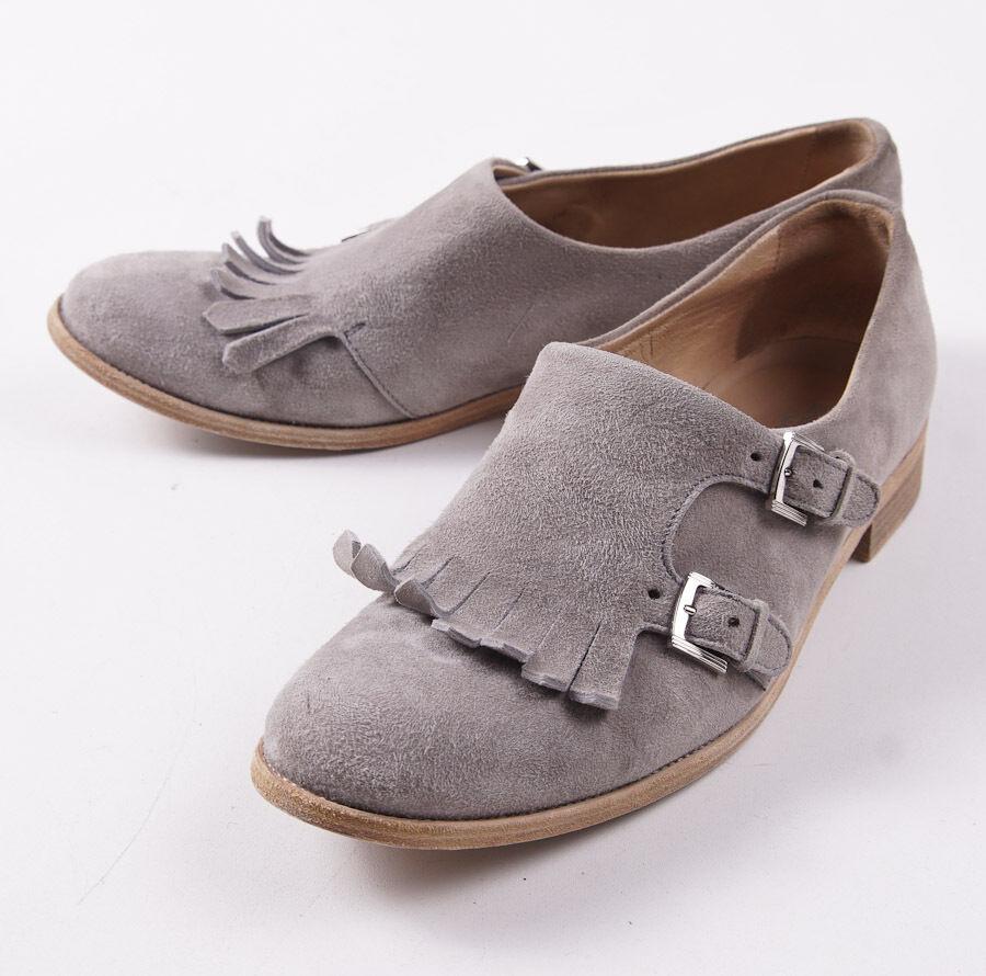1390 KITON Dove Beige Mi-mollet en daim à boucle Derbies US 9 (UE 40) Chaussures