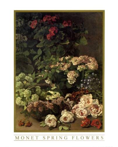 Art Print Spring Flowers by Claude Monet 8x10 In