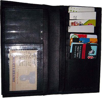 Analitico Nuovo Pelle Libretto Assegni Portafoglio 8 Porta Scheda 3 Bank Note Spazi