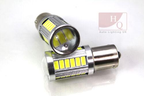 2 x P21W 33 SMD 5630 LED 1156 382 BA15s TAIL REVERSE BULBS AUDI