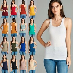 67e4ef702d8 1X 2X 3X Women s Plus Size Ribbed Racer Back TANK TOP Soft Stretchy ...