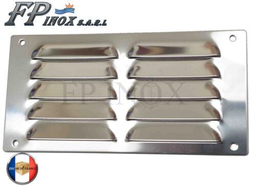 Grille inox 152mm x 76mm Epaisse 1,3mm inox 316