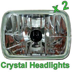 Par-De-Cristal-H4-Halogen-cabeza-lamparas-Toyota-Mr2-Mk1-Mk2-Faros-Delanteros-Lamparas