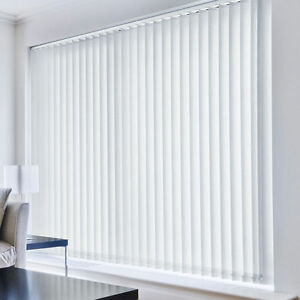 Vertical Blind Complete Sets Blackout Fabric White Cream Ebay