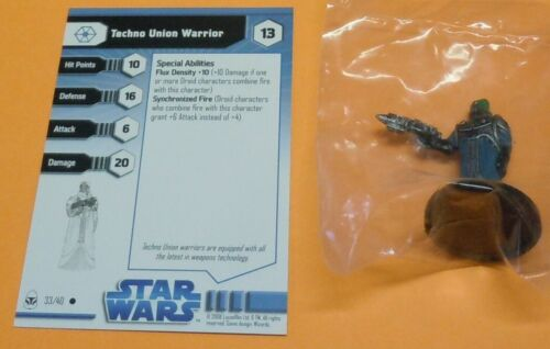 Miniaturas Star Wars The Clone Wars Techno Union Warrior #33//40 Novo Swm Minis