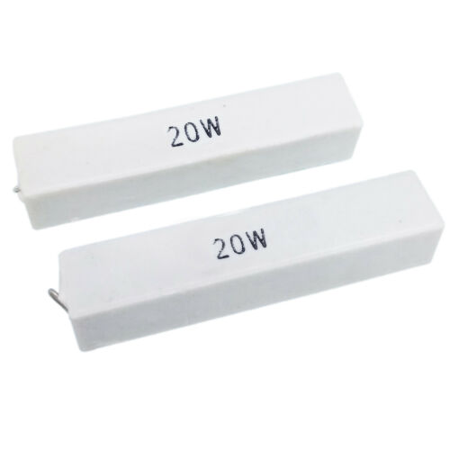 Details about  /US Stock 2pcs 20K ohm 20KΩJ 20 watt Axial Ceramic Cement Power Resistor 20W