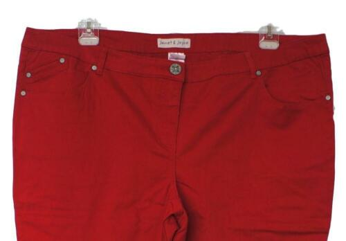 Gr 56 28 New donna Size Super Pantalone elastico Red In Plus Comfortable qTwBW4c7zx
