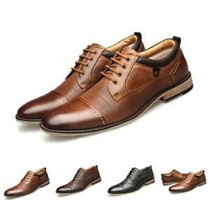 Herren Brogues Schnürschuhe Lederschuhe Abend Oxfords Schnürer Business Schuhe