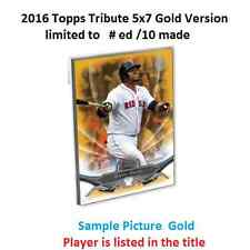 Dwight Doc Gooden #16 NY METS 2016 Topps Tribute 5X7 Gold Version #ed/10 Made