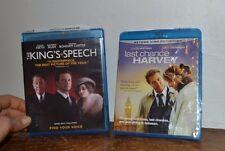 2 Blue-Ray Movies The Kings Speech & Last Chance Harvey  EUC