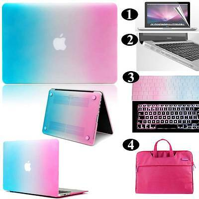 Rainbow Frosted Matte Rubberized Hardshell Hard Case Cover For Apple MacBook