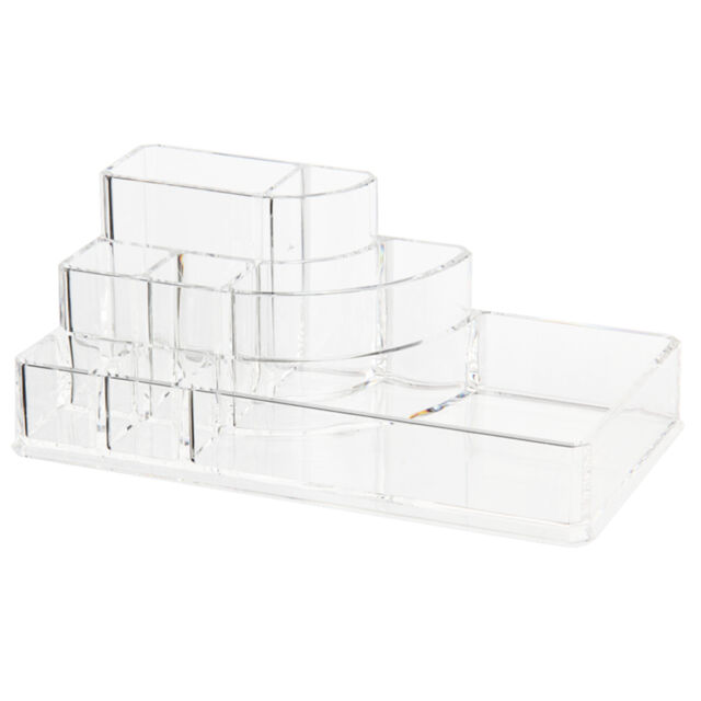 Organizer Box Acrylic Cosmetic Display box for Makeup Storage transparent T1