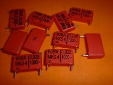 10x 22nF/1000V WIMA Kondensator MKS4