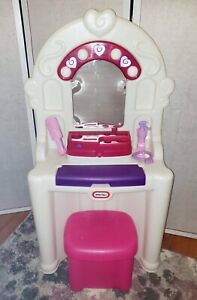 Rare Little Tikes Tender Hearts Talking Vanity Lights