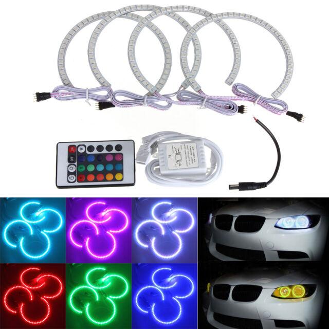 4x RGB LED Angel Eyes Ringe Standlicht Scheinwerfer Für BMW E36 E38 E39 E46 3 M3