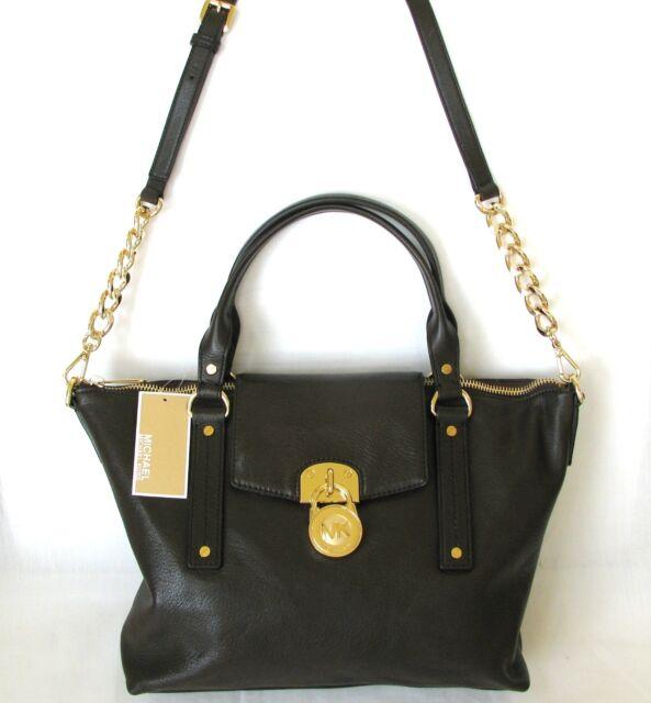 Michael Kors Hamilton Medium Slouchy Satchel Coffee Leather for sale ... a8dce4031b5cc