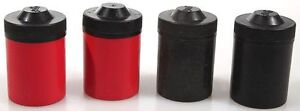 FILM CANS PLASTIC RED BLACK COLOR COMBINATIONS SET OF 4