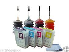 4 HP88 refillable cartridge K5400tn K550 K550dtn K550dtwn K8600 +4x30ml ink