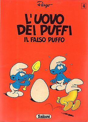 Coraggioso L'uovo Dei Puffi. Il Falso Puffo - Peyo N. 4, Ed. Salani 198 Originale Al 100%