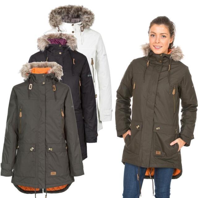 fantastic savings temperament shoes release info on Trespass Clea Womens Waterproof Parka Jacket - Dark Khaki M ...
