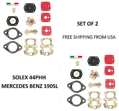 SOLEX 44PHH CARBURETOR REBUILD KIT FOR MERCEDES BENZ 190SL 190 SL Made in Italy