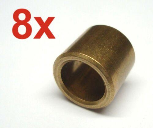 8 Stück Sinterbronze Buchse Ø 10 x 14 x 13 mm Gleitlager für 10 mm Welle Lager