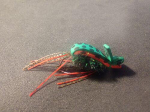 Size 1//0 Jalapeno Frog Sold Per 3 2019 NEW Bass Gurgler Frog