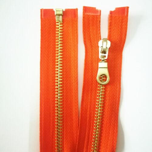 1 pcs 20color 12-24 inch 5# metal gourd head brass opening high-grade zipper