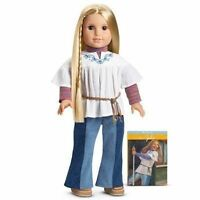 American Girl Julie Doll & Paperback Book 70's Jeans Clothes Shoes Belt Bnib