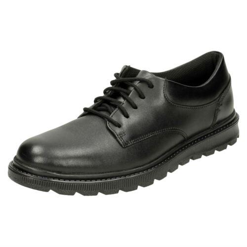 Zapatos Colegio Con Talla Niños Negra Cordones Elegante Piel Formal Mayes Clarks H0HP4wxqO