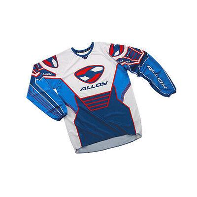 ALLOY MX MOTOCROSS BIKE JERSEY SHIRT 04 SX BLUE RED LARGE WHITE NAVY