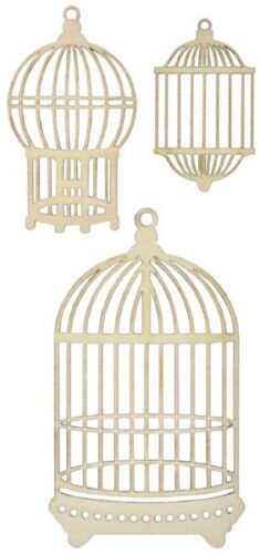 *NEW* KAISER You choose Kaisercraft Wooden Flourishes /'BIRDS BIRDCAGE /& OWLS/'