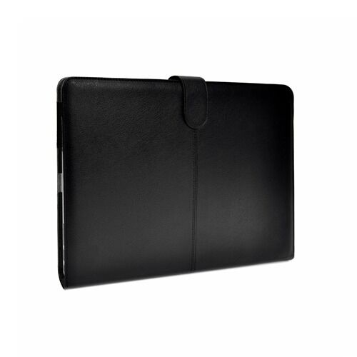 """Black Leather Case Cover Bag for Apple Macbook Air 13"""" A1369 & A1466"""