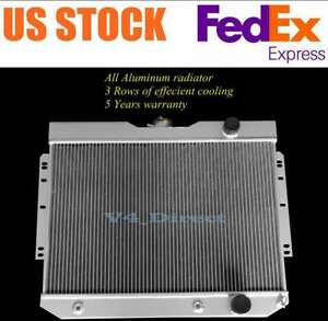 3 Cores Aluminum Radiator For 1959-1963 CHEVY IMPALA GM CARS AUTO 1960 1961 1962
