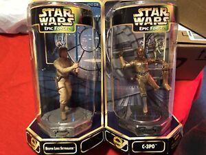 Star-Wars-Epic-Force-Bespin-Luke-Skywalker-C-3PO-360-Rotating-Figure-Kenner-1997