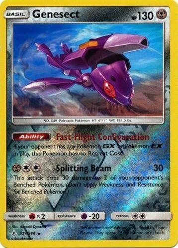 Reverse Holo Pokemon SM10 Unbroken Bonds M//NM 127//214 Rare x1 Genesect